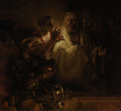 Rembrandt Harmensz. van Rijn The Denial of St Peter. St Peter's denial.