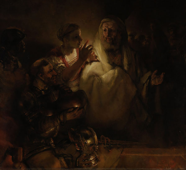 Rembrandt Harmensz. van Rijn The Denial of St Peter. St Peter's denial.
