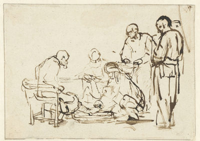 Rembrandt Harmensz. van Rijn The Washing of the Feet