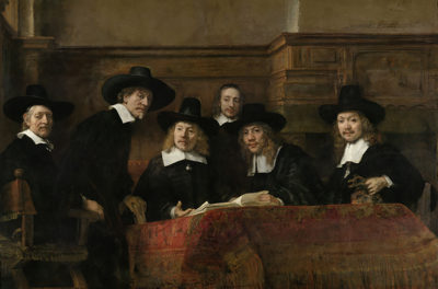 Rembrandt Harmensz. van Rijn The Sampling Officials of the Amsterdam Drapers' Guild