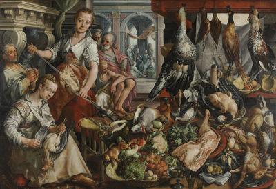 Joachim Bueckelaer The Well-stocked Kitchen