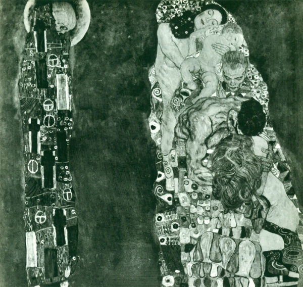 Gustav Klimt Death and Life (Former State)