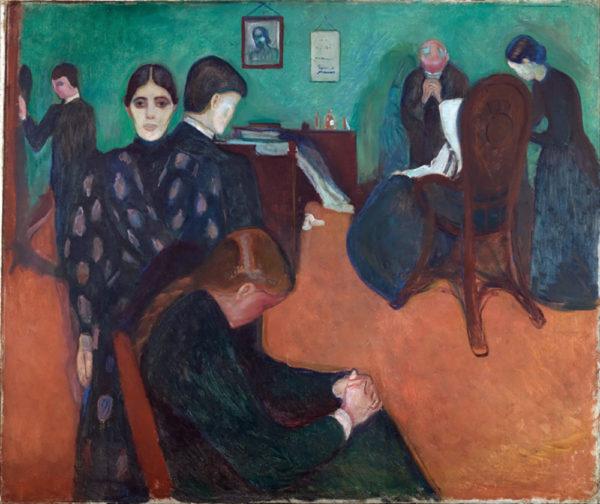 Edvard Munch Death in the sickroom