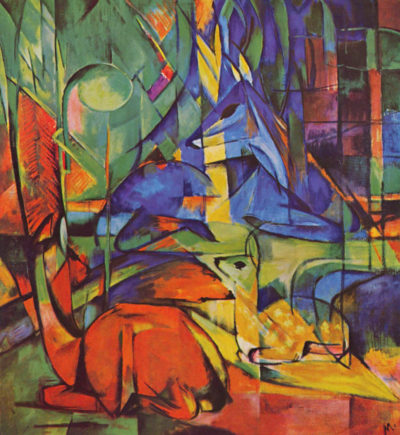 Franz Marc Deer in Forest