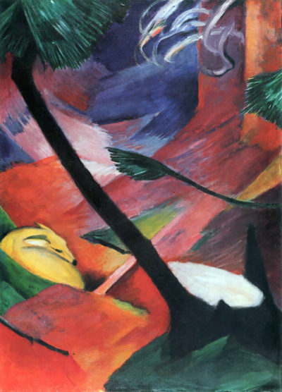 Franz Marc Deer in the forest II