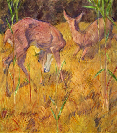 Franz Marc Deer in the reed
