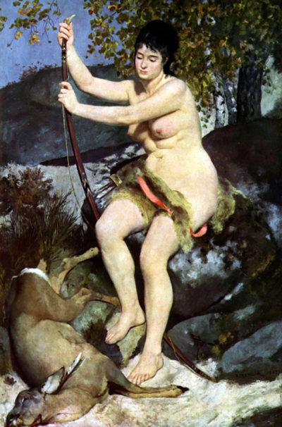 Pierre-Auguste Renoir Diana as hunter