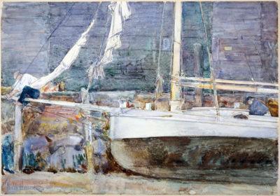 Childe Hassam Drydock
