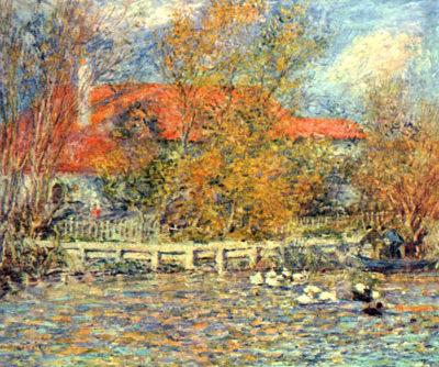 Pierre-Auguste Renoir Duck pond