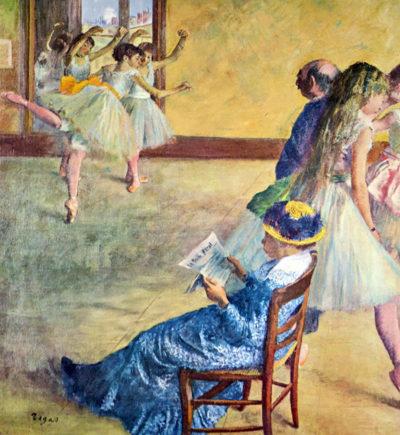 Edgar Degas During the dance lessons - Madame Cardinal