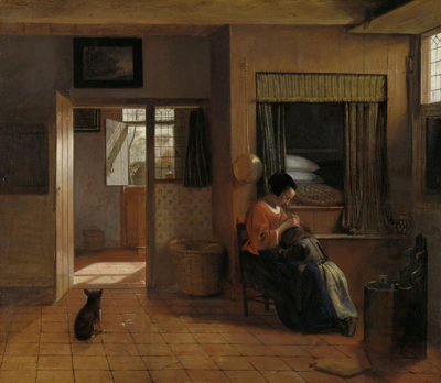 Pieter de Hooch A Mother Delousing her Child's Hair