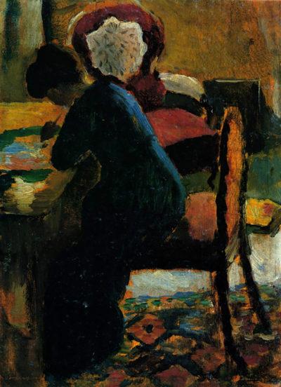 August Macke Elisabeth at the desk