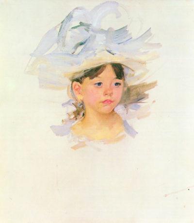 Mary Cassatt Ellen Mary Cassat with large blue hat