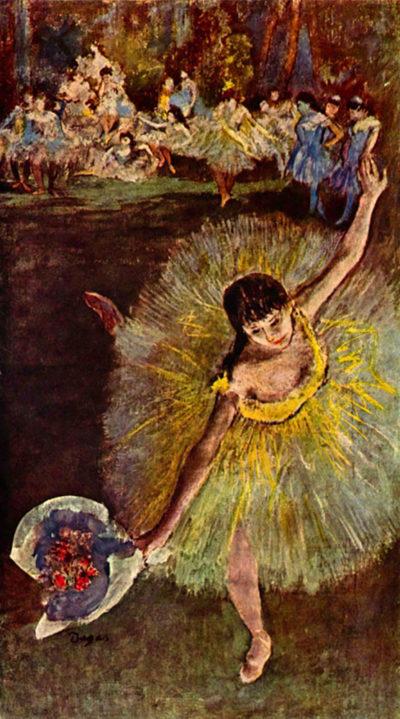 Edgar Degas End of the arabesque