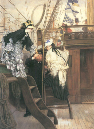 James Tissot Entry to the yacht
