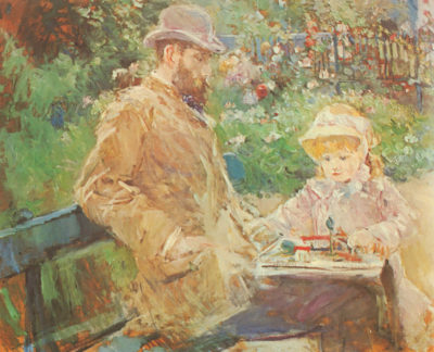 Berthe Morisot Eugäne Manet and his daughter in Bougival