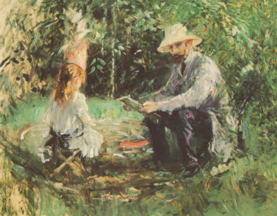 Berthe Morisot Eugäne Manet and his daughter in the garden