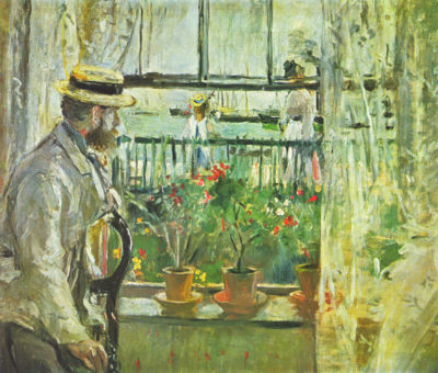 Berthe Morisot Eugäne Manet on the Isle of Wight