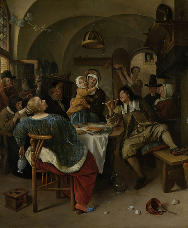 Jan Havicksz. Steen Family scene