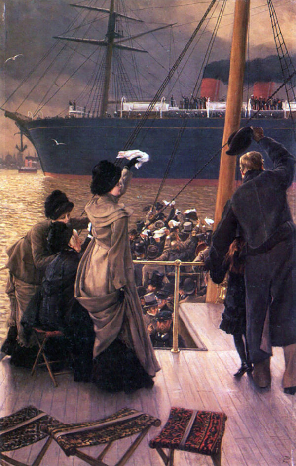 James Tissot Farewell to the Mersey