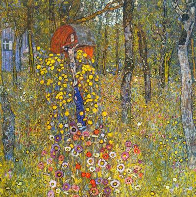 Gustav Klimt Farmers garden with crucifix