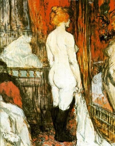 Henri de Toulouse-Lautrec Female Nude