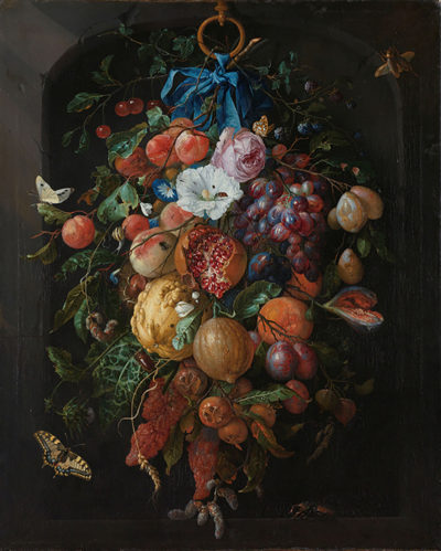 Jan Davidsz. de Heem Festoon of Fruit and Flowers