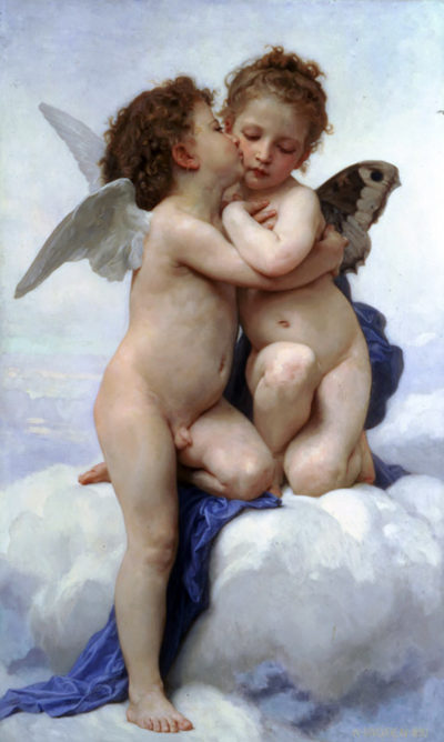 William-Adolphe Bouguereau First Kiss