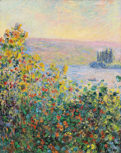 Claude Monet Flower Beds at Vetheuil