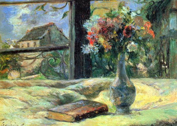 Paul Gauguin Flower Vase in Window