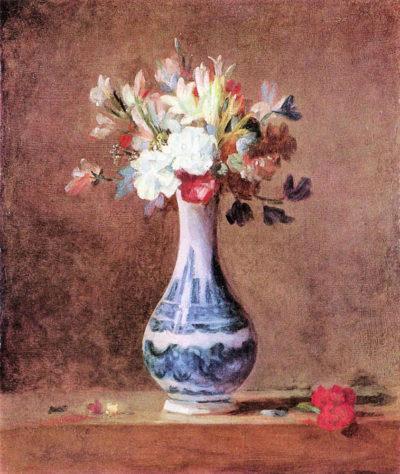 Jean Chardin Flowers in a Vase