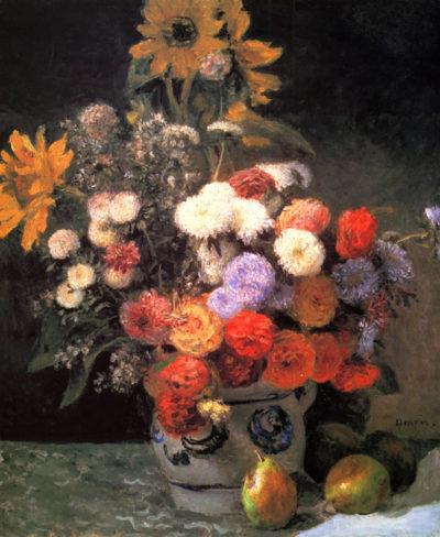 Pierre-Auguste Renoir Flowers in a vase