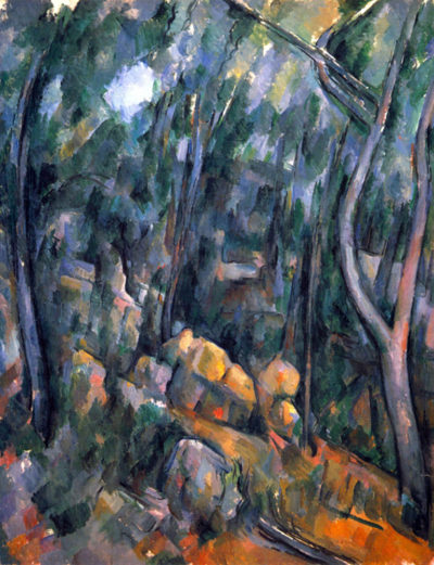 Paul Cézanne Forest caves in the cliffs above the Château Noir