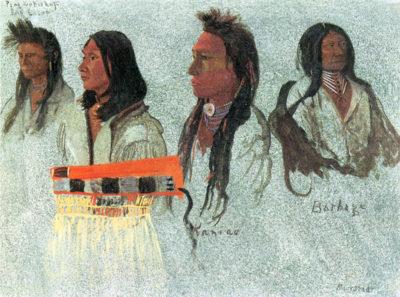 Albert Bierstadt Four Indians