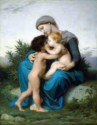 William-Adolphe Bouguereau Fraternal Love