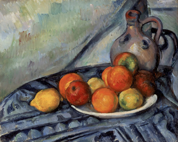 Paul Cézanne Fruit and a Jug on a Table