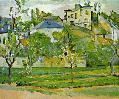 Paul Cézanne Fruit garden in Pontoise
