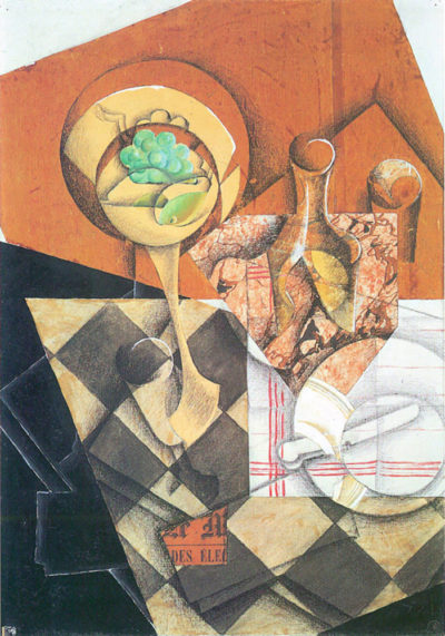 Juan Gris Fruit peel and carafe