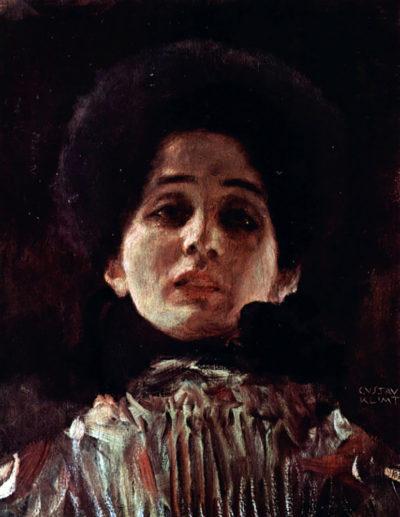 Gustav Klimt Full-Face Portrait of a Lady