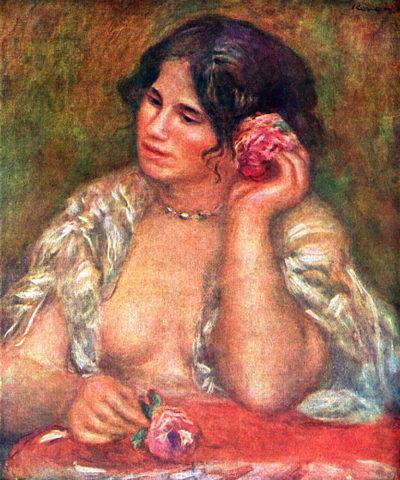 Pierre-Auguste Renoir Gabriele with a rose