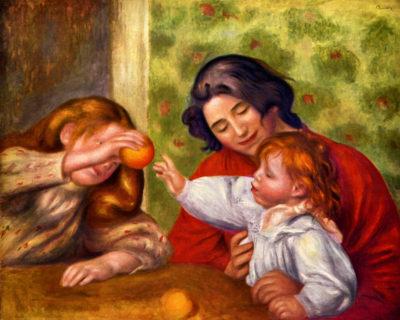 Pierre-Auguste Renoir Gabrielle Jean and a girl