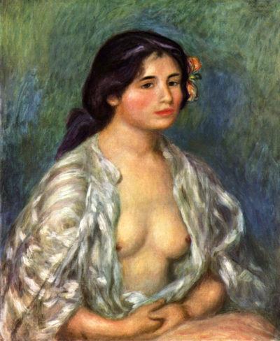 Pierre-Auguste Renoir Gabrielle with open blouse