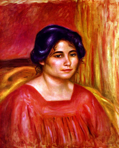 Pierre-Auguste Renoir Gabrielle with red blouse