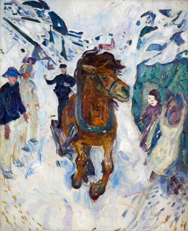 Edvard Munch Galloping Horse