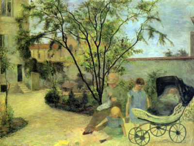 Paul Gauguin Garden in Rue Carcel