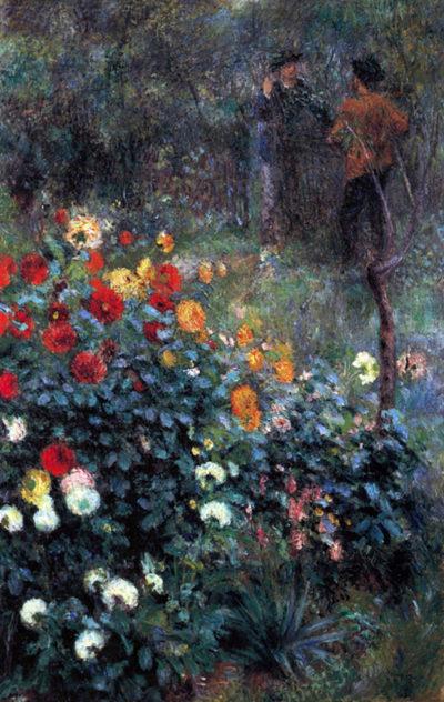 Pierre-Auguste Renoir Garden in the street Cortot