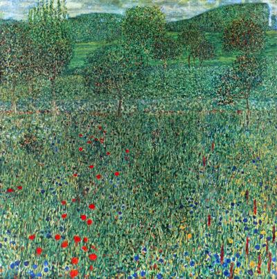 Gustav Klimt Garden landscape
