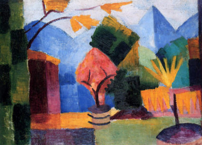 August Macke Garden on the lake of Thun