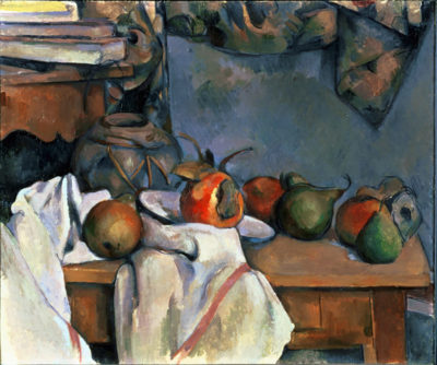 Paul Cézanne Ginger pot with Pomegranate and Pears