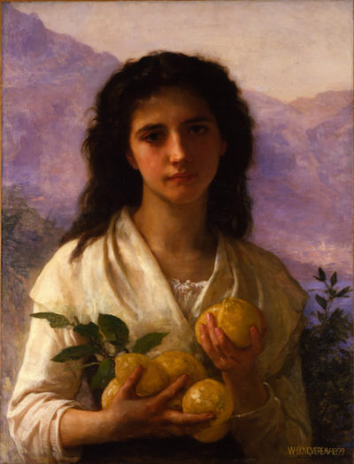 William-Adolphe Bouguereau Girl Holding Lemons